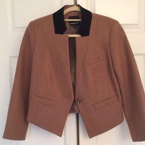 Cropped style wool blazer NWT!